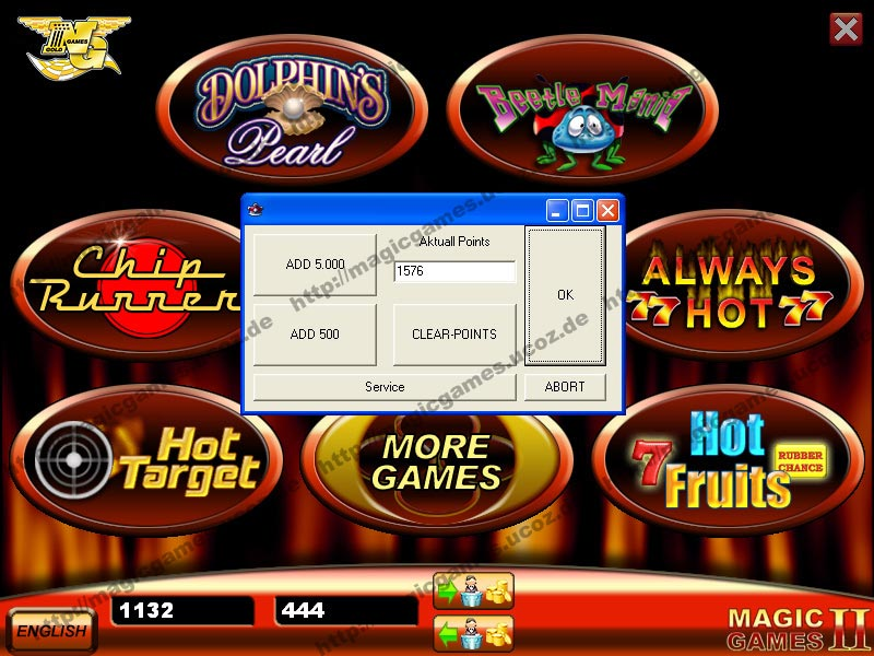 Golden island casino games